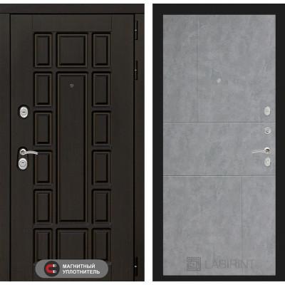 Стальная дверь Лабиринт NEW YORK 21 (Бетон светлый)