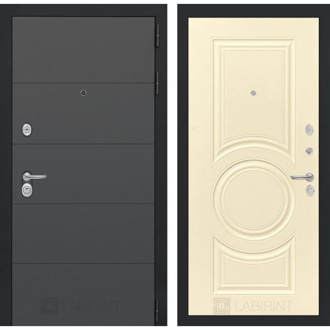 Стальная дверь Лабиринт ART 23 (Шампань софт)