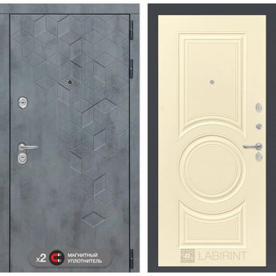 Стальная дверь Лабиринт Бетон 23 (Шампань софт)