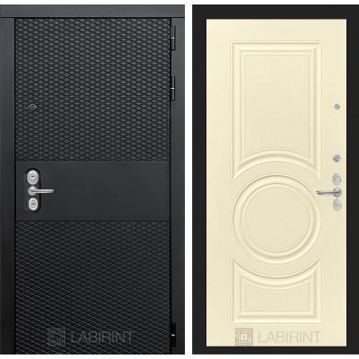 Стальная дверь Лабиринт BLACK 23 (Шампань софт)
