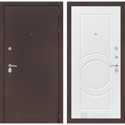 Дверь Лабиринт Classic 23 (Антик медный / Белый софт)