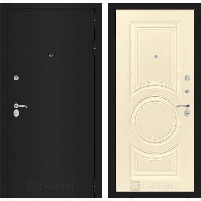 Дверь Лабиринт Classic 23 (Шагрень черная / Шампань софт)