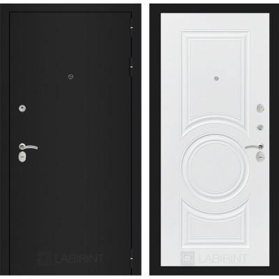 Дверь Лабиринт Classic 23 (Шагрень черная / Белый софт)