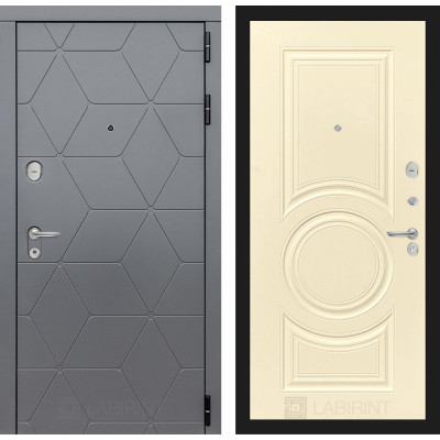 Стальная дверь Лабиринт COSMO 23 (Шампань софт)