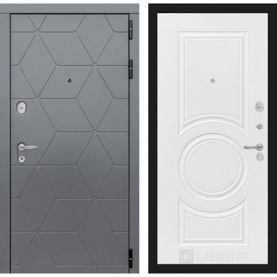 Стальная дверь Лабиринт COSMO 23 (Белый софт)