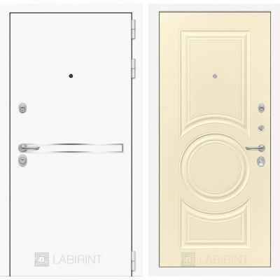 Стальная дверь Лабиринт LINE WHITE 23 (Шампань софт)