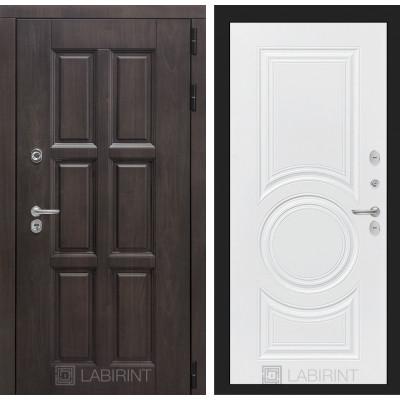 Стальная дверь Лабиринт Лондон с терморазрывом 23 (Белый софт)