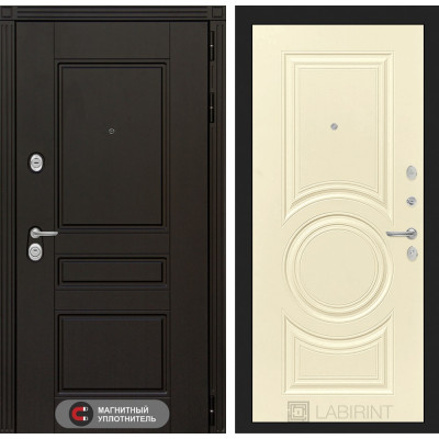 Стальная дверь Лабиринт Мегаполис 23 (Шампань софт)