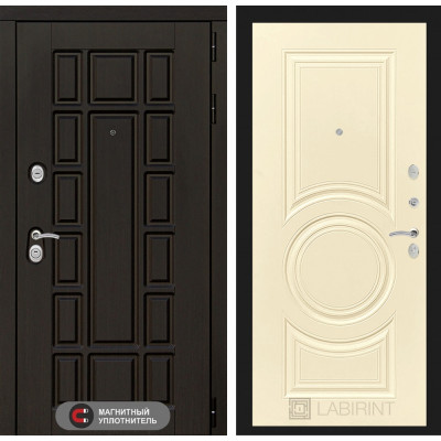 Стальная дверь Лабиринт NEW YORK 23 (Шампань софт)