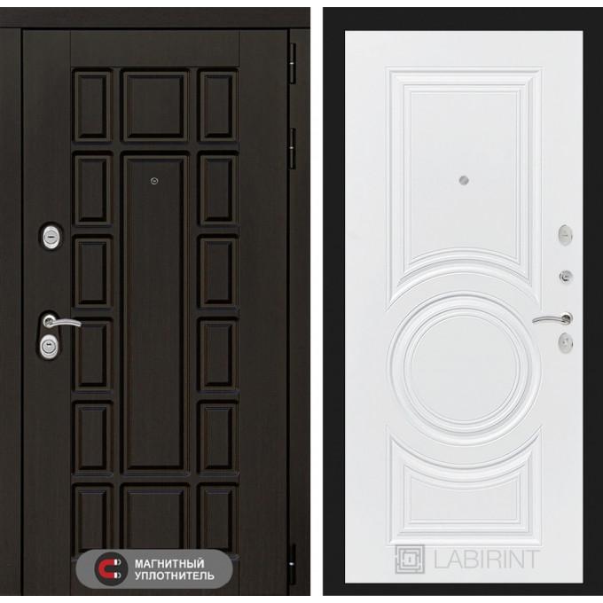 Стальная дверь Лабиринт NEW YORK 23 (Белый софт)