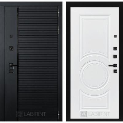 Стальная дверь Лабиринт Пиано 23 (Белый софт)