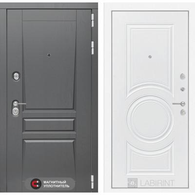 Стальная дверь Лабиринт Платинум 23 (Белый софт)