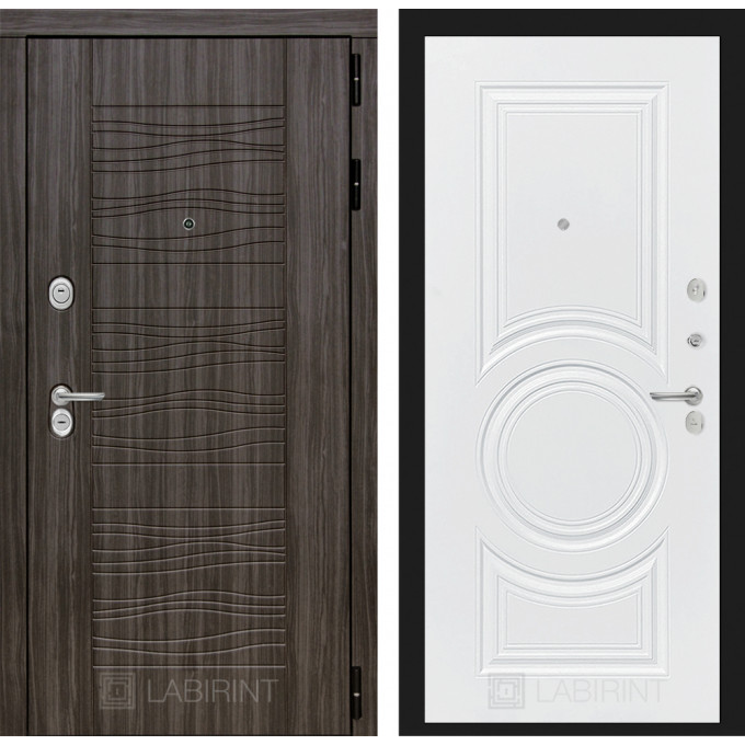 Стальная дверь Лабиринт SCANDI 23 (Белый софт)