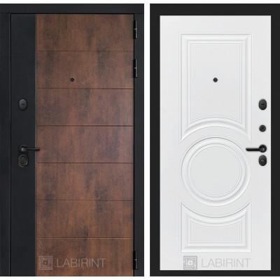 Стальная дверь Лабиринт Техно 23 (Белый софт)