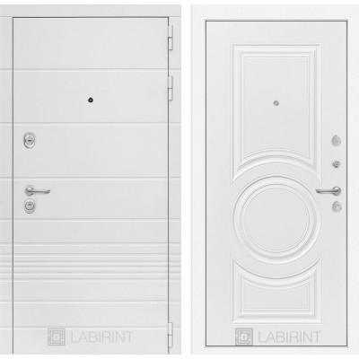 Стальная дверь Лабиринт TRENDO 23 (Белый софт)