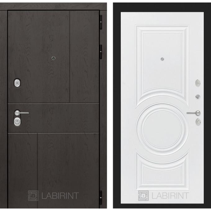 Стальная дверь Лабиринт URBAN 23 (Белый софт)