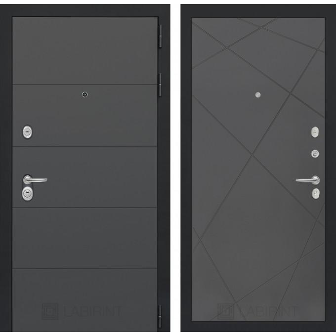 Стальная дверь Лабиринт ART 24 (Графит софт)