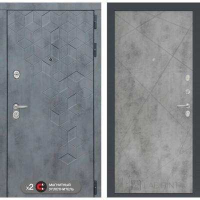 Стальная дверь Лабиринт Бетон 24 (Бетон светлый)