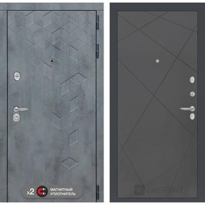 Стальная дверь Лабиринт Бетон 24 (Графит софт)