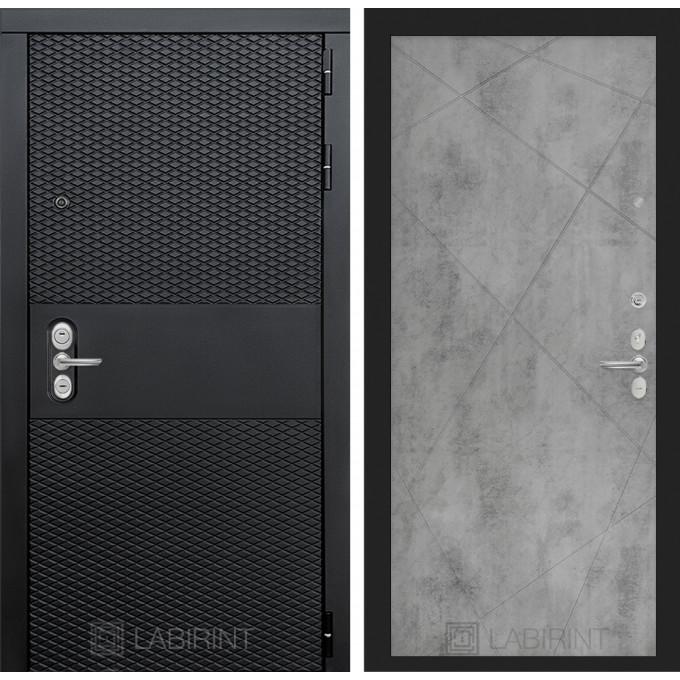 Стальная дверь Лабиринт BLACK 24 (Бетон светлый)
