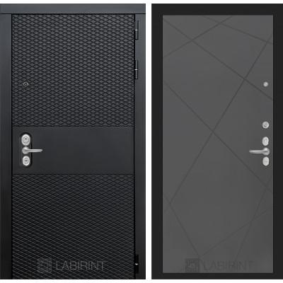 Стальная дверь Лабиринт BLACK 24 (Графит софт)