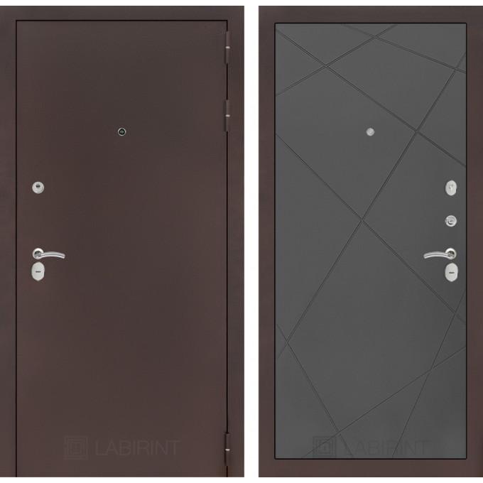 Дверь Лабиринт Classic 24 (Антик медный / Графит софт)