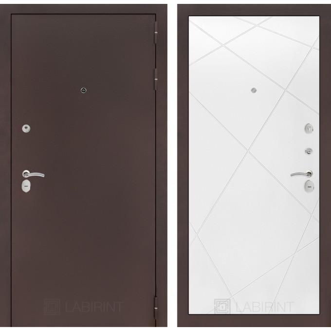 Дверь Лабиринт Classic 24 (Антик медный / Белый софт)