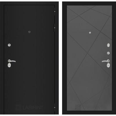Дверь Лабиринт Classic 24 (Шагрень черная / Графит софт)