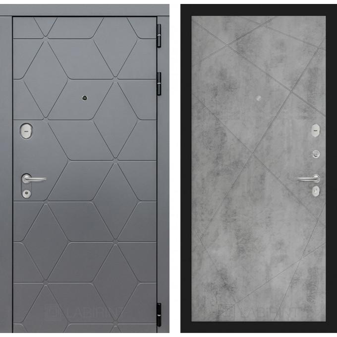 Стальная дверь Лабиринт COSMO 24 (Бетон светлый)
