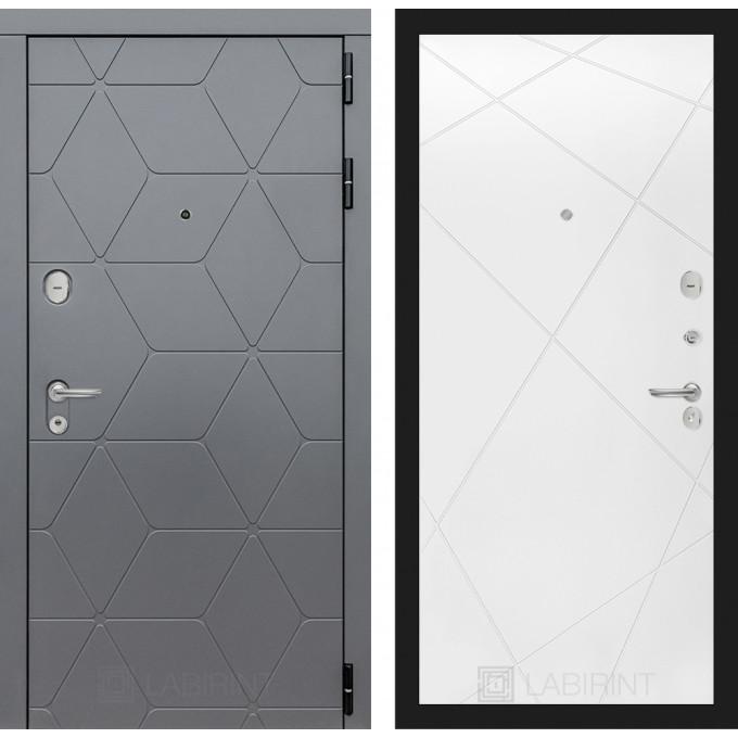 Стальная дверь Лабиринт COSMO 24 (Белый софт)