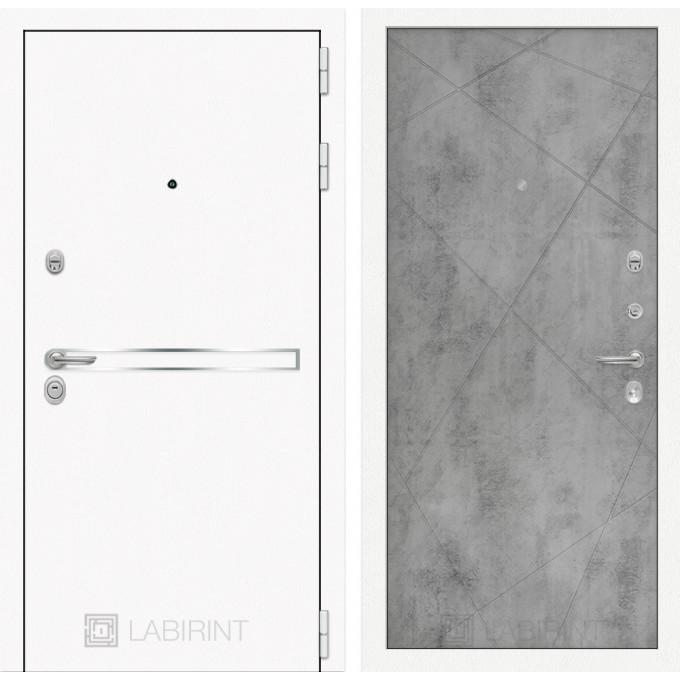Стальная дверь Лабиринт LINE WHITE 24 (Бетон светлый)