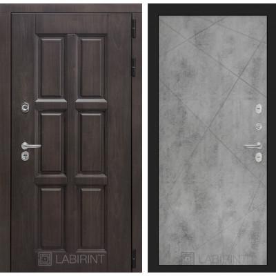 Стальная дверь Лабиринт Лондон с терморазрывом 24 (Бетон светлый)