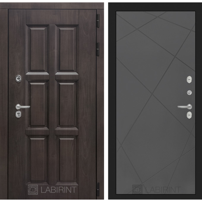 Стальная дверь Лабиринт Лондон с терморазрывом 24 (Графит софт)