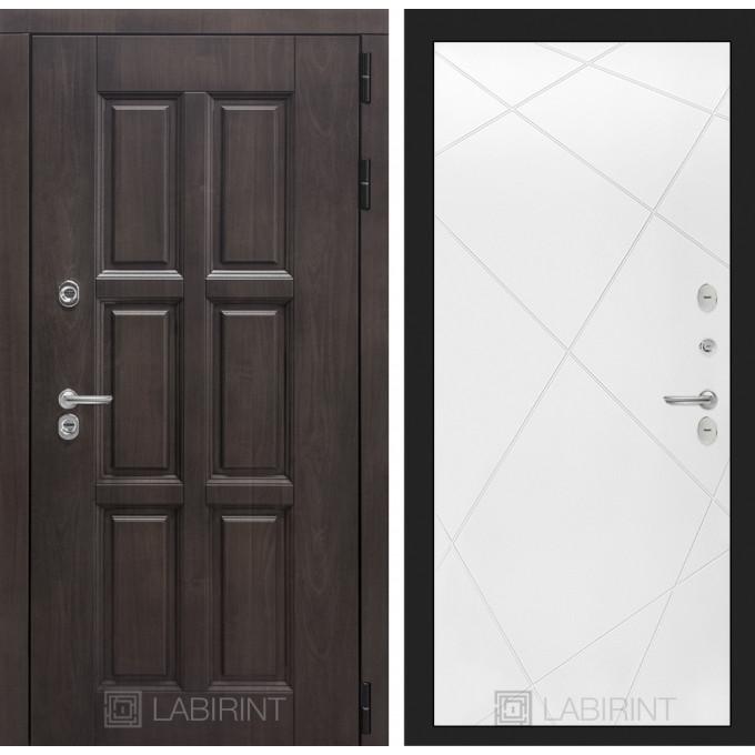 Стальная дверь Лабиринт Лондон с терморазрывом 24 (Белый софт)