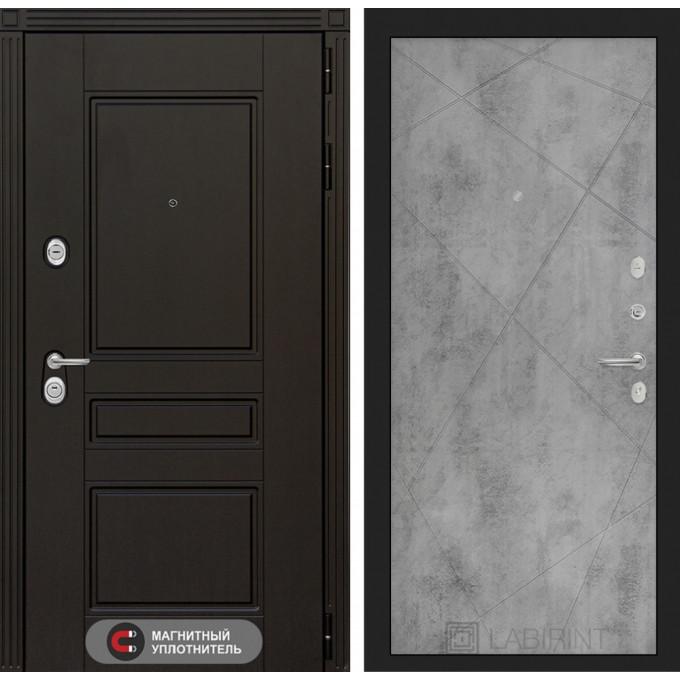 Стальная дверь Лабиринт Мегаполис 24 (Бетон светлый)