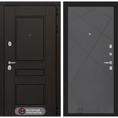 Стальная дверь Лабиринт Мегаполис 24 (Графит софт)