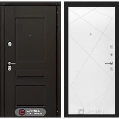 Стальная дверь Лабиринт Мегаполис 24 (Белый софт)
