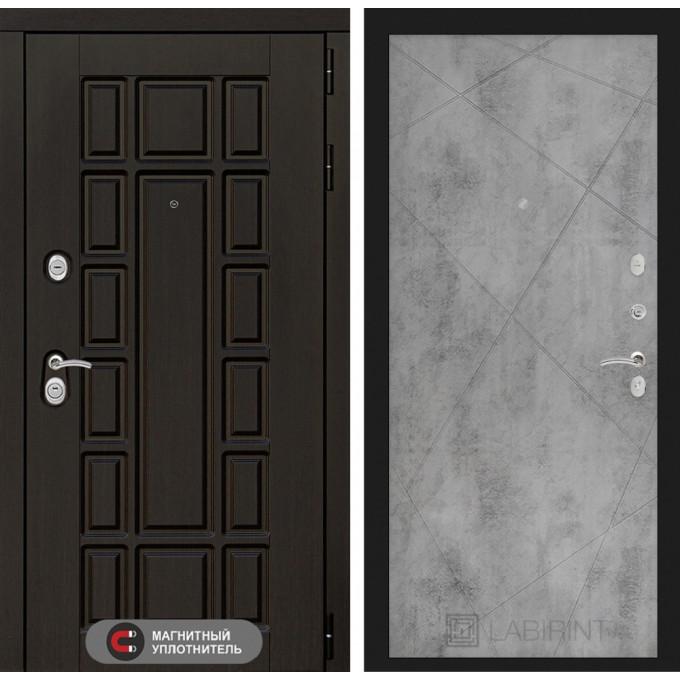 Стальная дверь Лабиринт NEW YORK 24 (Бетон светлый)