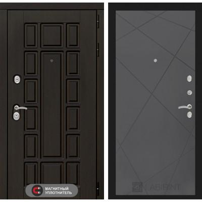 Стальная дверь Лабиринт NEW YORK 24 (Графит софт)
