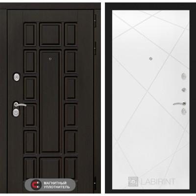 Стальная дверь Лабиринт NEW YORK 24 (Белый софт)