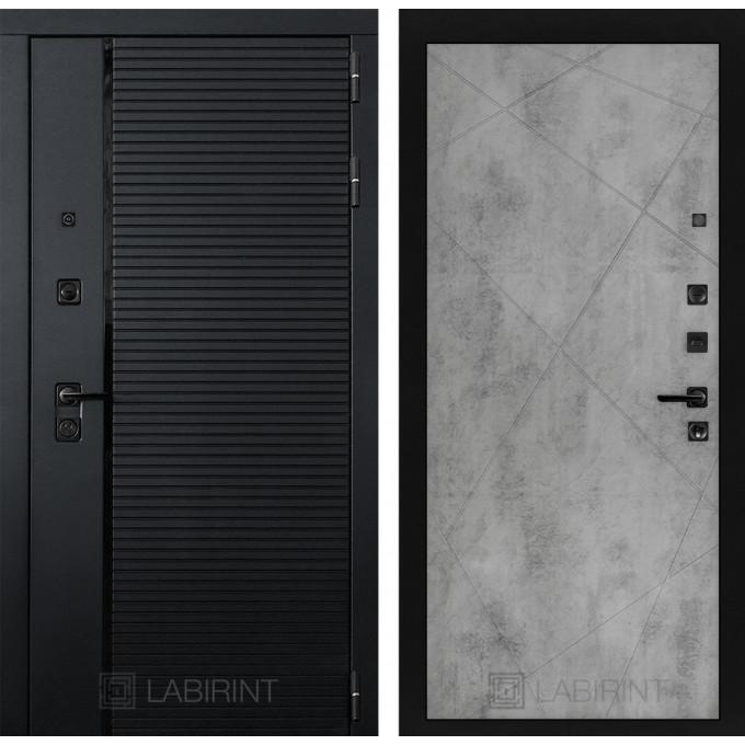Стальная дверь Лабиринт Пиано 24 (Бетон светлый)
