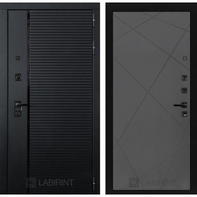 Стальная дверь Лабиринт Пиано 24 (Графит софт)