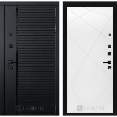 Стальная дверь Лабиринт Пиано 24 (Белый софт)