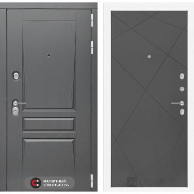 Стальная дверь Лабиринт Платинум 24 (Графит софт)
