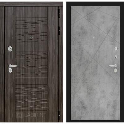 Стальная дверь Лабиринт SCANDI 24 (Бетон светлый)