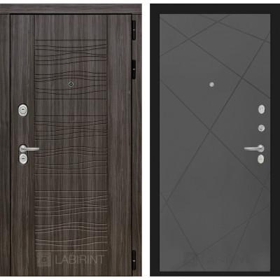 Стальная дверь Лабиринт SCANDI 24 (Графит софт)