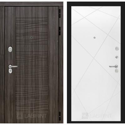 Стальная дверь Лабиринт SCANDI 24 (Белый софт)