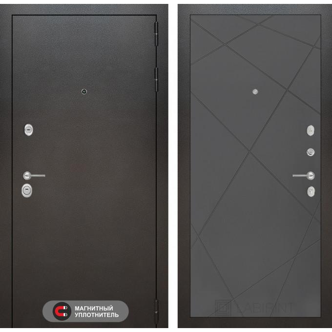 Стальная дверь Лабиринт SILVER 24 (Графит софт)