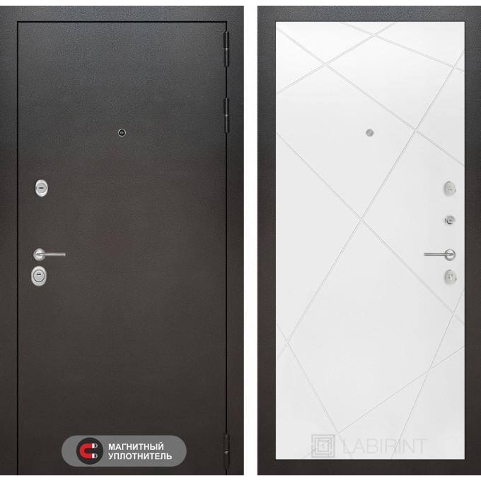 Стальная дверь Лабиринт SILVER 24 (Белый софт)