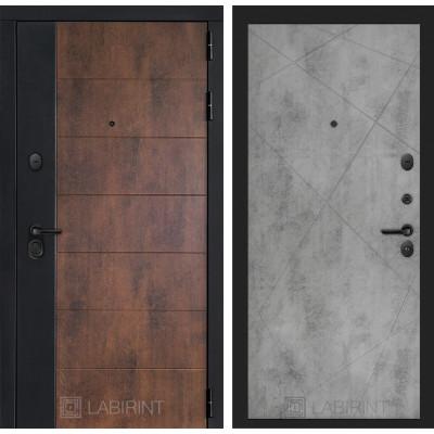 Стальная дверь Лабиринт Техно 24 (Бетон светлый)